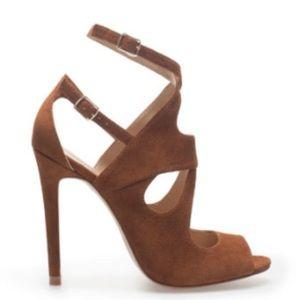 Zara Suede Ankle Strap Heels